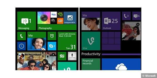 Windows Phone 8.1 Update: die Live-Ordner