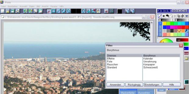 Bilbearbeitungs-Software: Pixia