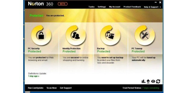 Norton 360 4.0 Beta - Bild 01