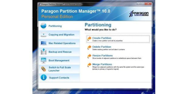Paragon Partition Manager - Bild 01