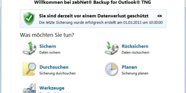 Backup for Outlook® TNG - kostenloser Download