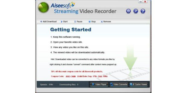 Aiseesoft Streaming Video Recorder 01