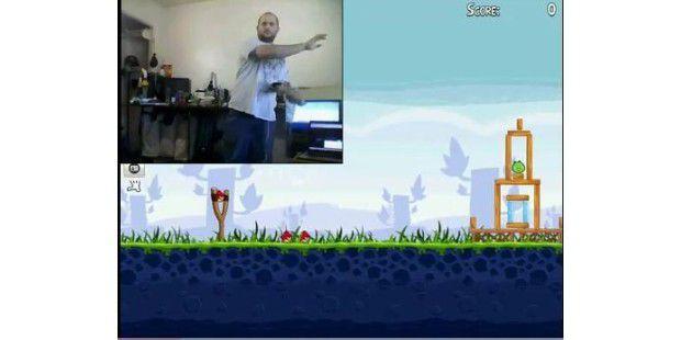Angry Birds Kinect