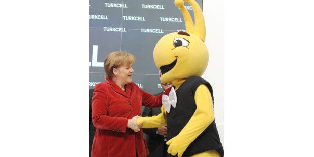 Bundeskanzlerin Angela Merkel auf der CeBIT 2011