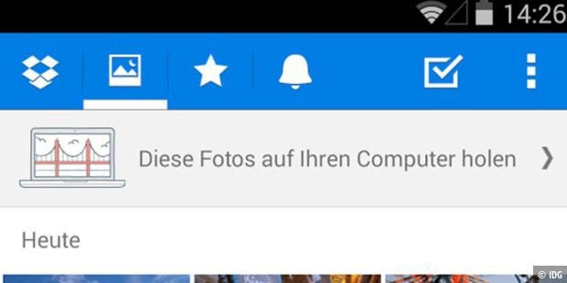 Dropbox für Android in neuer Version