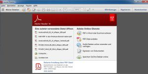 PDF-Betrachter: Adobe Reader