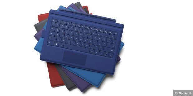 Vielfarbig: Das Surface Pro Type Cover kostet 130 Euro