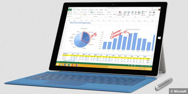 Tablet oder Notebook? Auf jeden Fall Windows: Microsoft Surface Pro 3 im Test