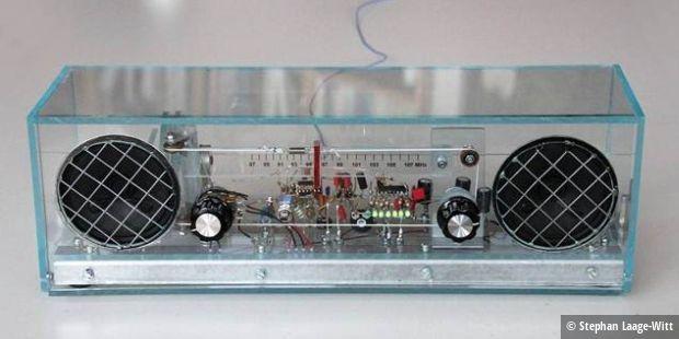 nostalgisches fm stereo radio bauen pc welt. Black Bedroom Furniture Sets. Home Design Ideas