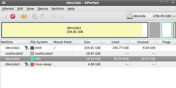 Partitions-Verwaltung: GParted Live