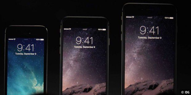 iPhone 5s, iPhone 6, iPhone 6 Plus.