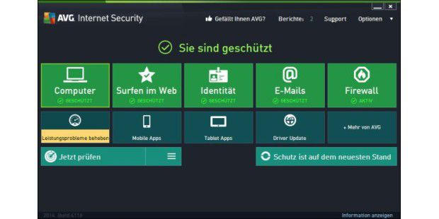Gratis-Virenscanner: AVG Anti-Virus Free Edition 2015