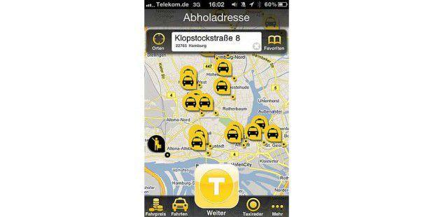 taxi und mitfahrer per smartphone suchen pc welt. Black Bedroom Furniture Sets. Home Design Ideas