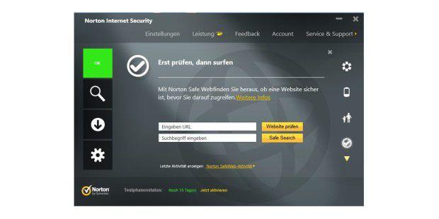 Norton Safe Web sagt Ihnen, ob eine Webseite sicherist.