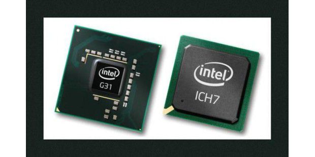 Intel Chipsatz mit IGP Grafik: Der Graphics Media Accelerator (GMA) ist integriert Quelle: Intel