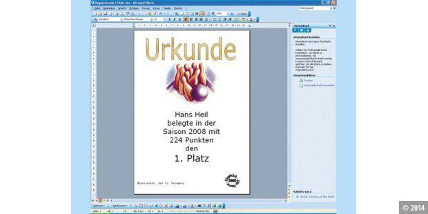 Kleinanzeigen, Urkunden, Zeitungen und alle in Word erstellt - PC-WELT