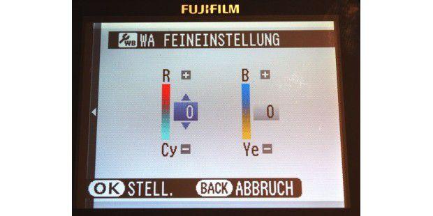 Bei dieser Fujifilm-Kamera können Sie die Farbtemperaturdirekt auswählen.