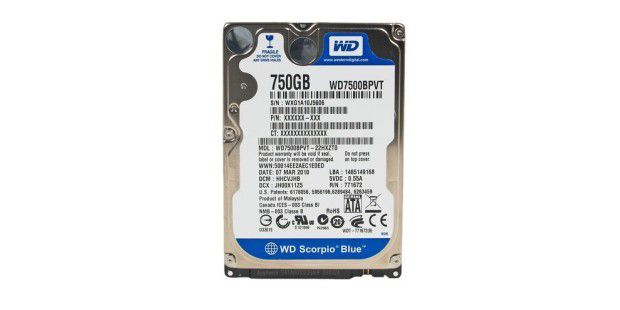 Western Digital Scorpio Blue 750GB (WD7500BPVT-22HXZT0)