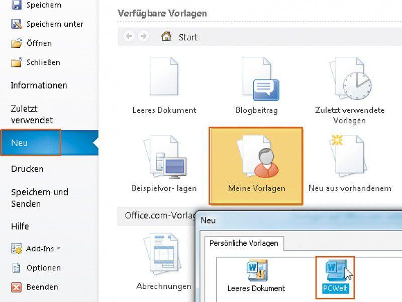 Gelungene Dokumente als Vorlagen speichern - PC-WELT