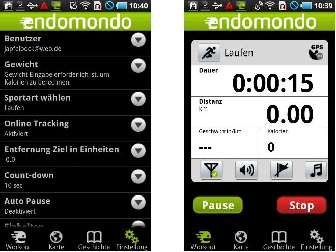 Android App des Tages: Endomondo Sports Tracker PC WELT
