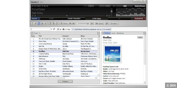 MP3s gratis mit Radio.fx