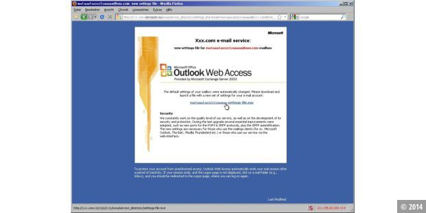 Fälschung: Outlook Web Access