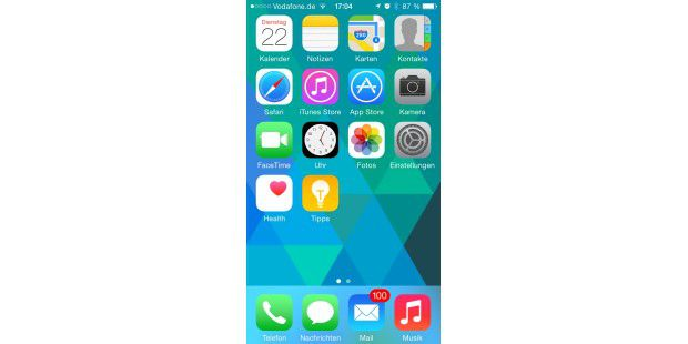 Apple iOS 8 Beta 4 auf dem iPhone 5
