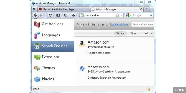 Firefox neuer Add-Ons Manager