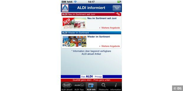 "iPhone-App ""ALDI Nord"""