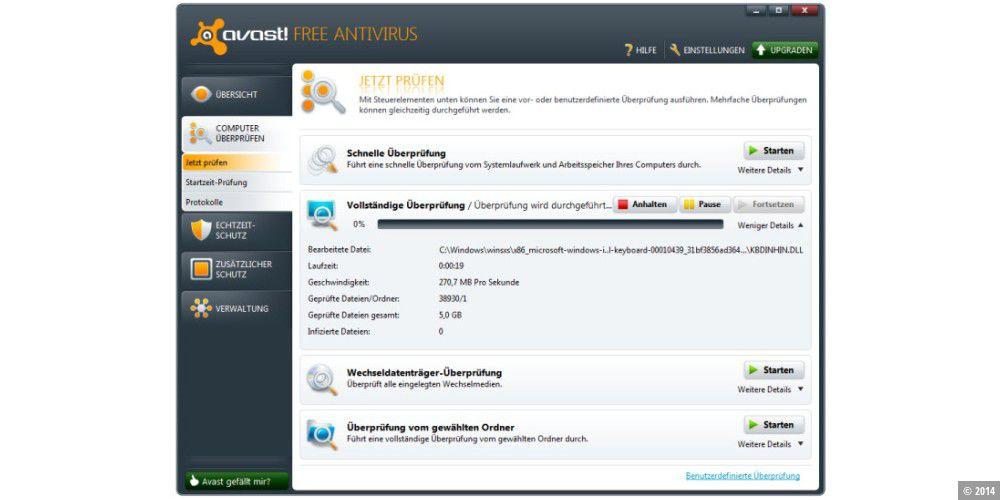 hat avast free antivirus eine firewall