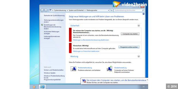 Windows 7 Wartungscenter