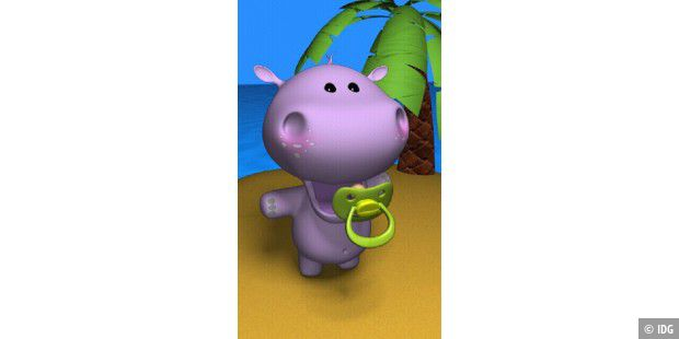 "Android-App ""Talking Baby Hippo"""