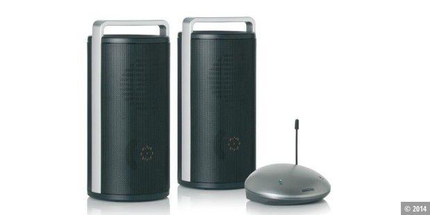 kabellose lautsprecher f r mobilen musikspa pc welt. Black Bedroom Furniture Sets. Home Design Ideas