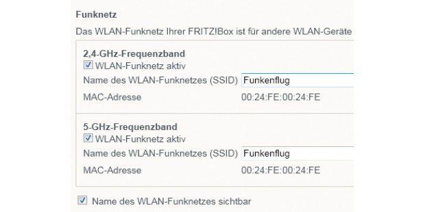 """Funknetze lassen sich mit dem SSID individuell benennenund so beim Verbinden leicht identifizieren. Wer Wert darauf legt,dass der SSID nicht angezeigt wird, deaktiviert dieStandardeinstellung """"Name des WLAN-Funknetzes sichtbar"""" perMausklick."""