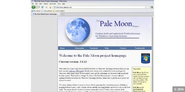 Download-Tipp: Die Firefox-Alternative Pale Moon