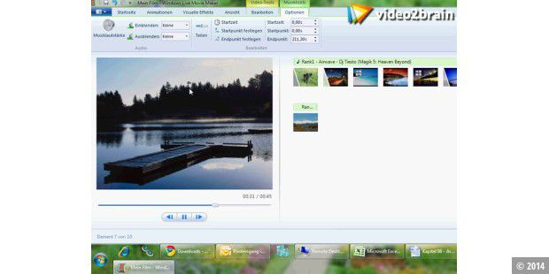 Einfache Timeline beim Windows Live Movie Maker