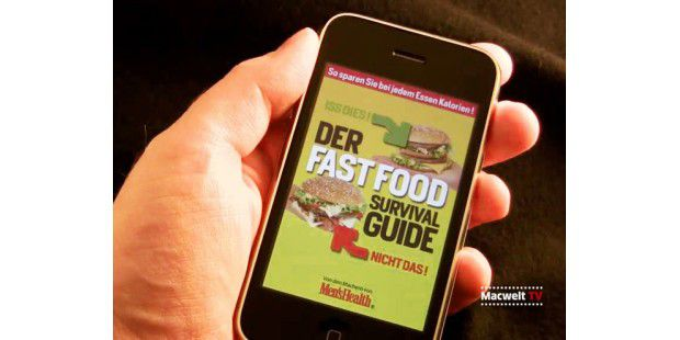 "iPhone-App ""Fastfood Survival Guide"""