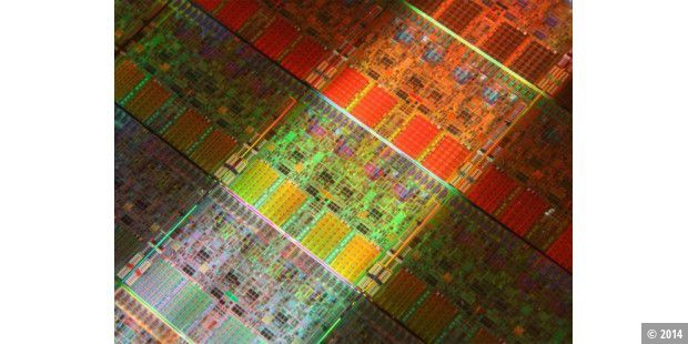 Intel Core i7: Der 45-Nanometer-Wafer