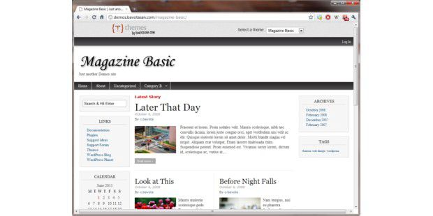 Demo-Site des Wordpress-Themes Magazine Basic