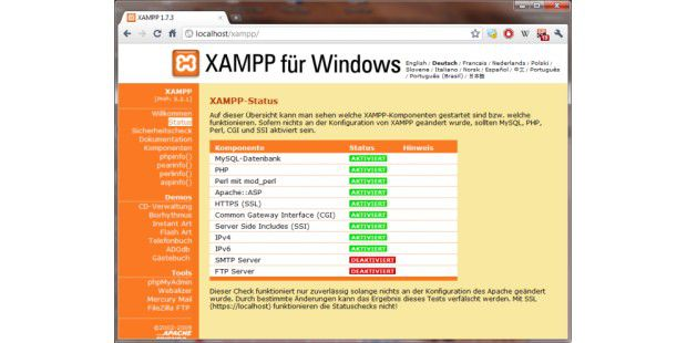 XAMPP für Windows