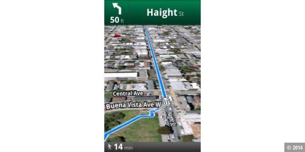 google maps kommt mit fu g nger navi f r android pc welt. Black Bedroom Furniture Sets. Home Design Ideas