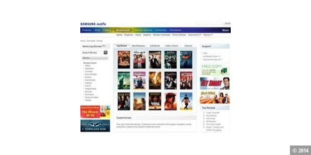 Samsung Movie Store: Video-Download-Portal für Handys