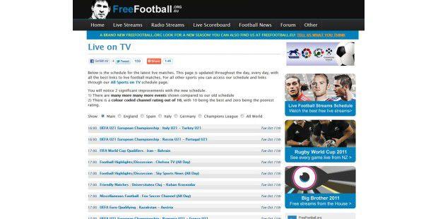 Als Streaming-Quellen können wir Ihnen Freefootball.org ,Livetv.ru, Atdhenet.tv , Wiziwig.eu oder Justin.tvempfehlen.
