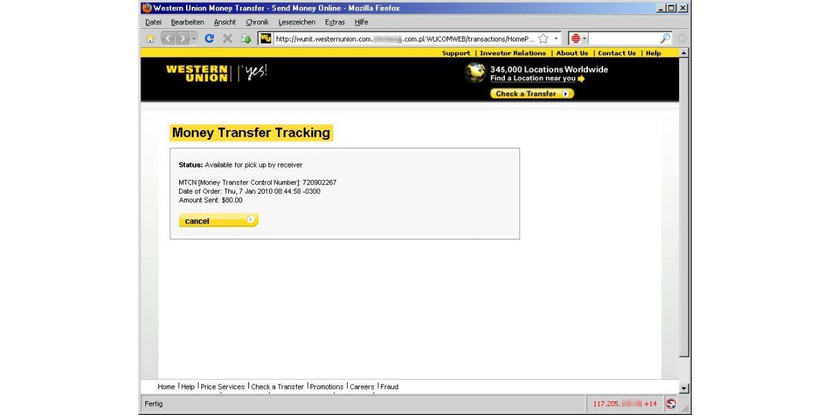 Nummer mtcn MTCN Tracking