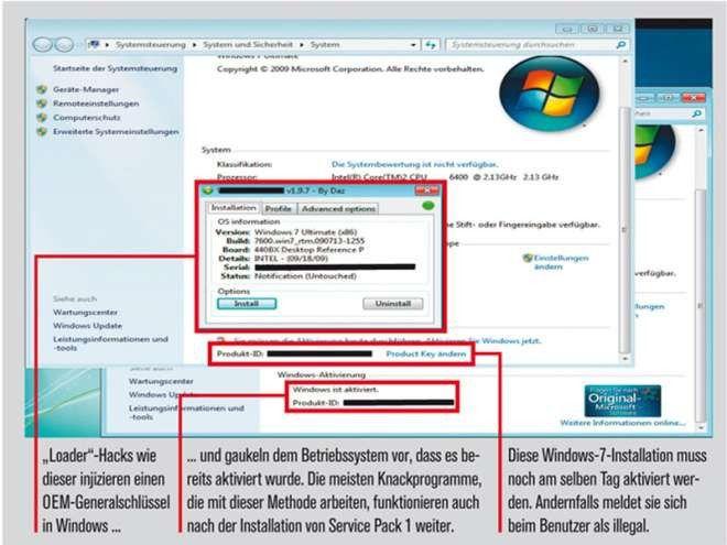 So knacken Cracker die Aktivierung von Windows 7 - PC-WELT