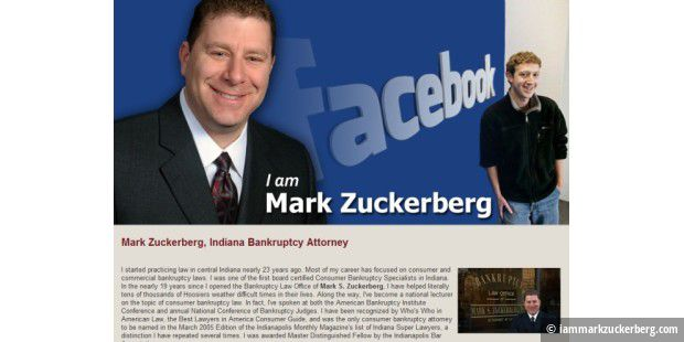 Mark Zuckerbergs Homepage