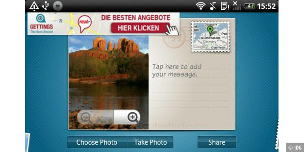 "Android-App ""Postcard Express Lite"""