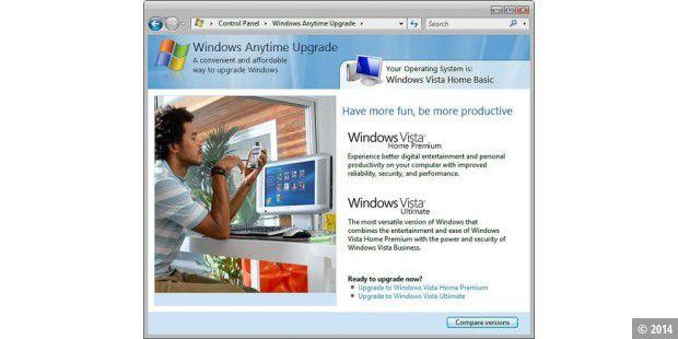 microsoft windows vista anytime upgrade