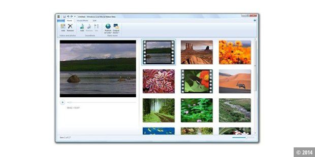 Windows Live Movie Maker (Quelle: liveside.net)