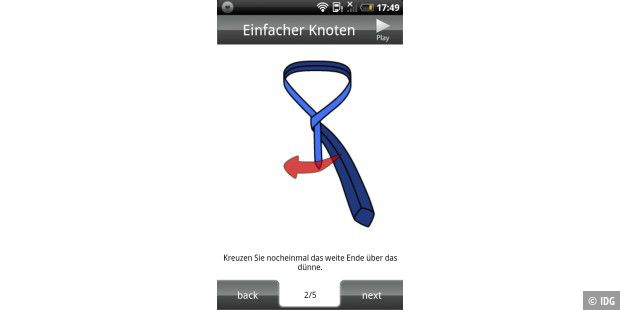 "Android-App ""Easy Tie"""